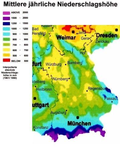 Niederschlagskarte